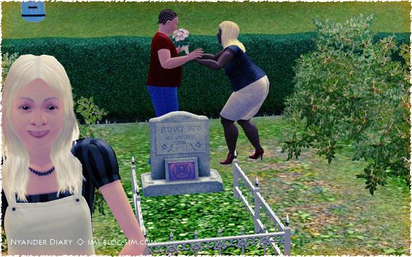 シムズ3 墓地で!?仏花を!?